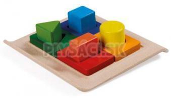 Plan Toys EKO - doska na určovanie geometrických tvarov