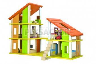 Plan Toys EKO - Chalet domček s nábytkom