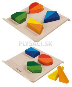 Plan Toys EKO - obojstranná doska so skladacími tvarmi