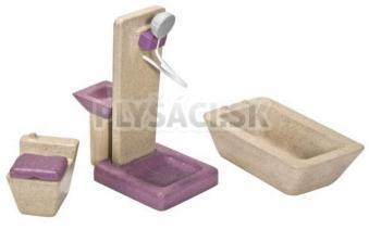 Plan Toys EKO - nábytok kúpelňa do domčeka