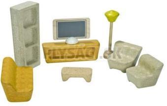 Plan Toys EKO - nábytok obývacia izba do domčeka