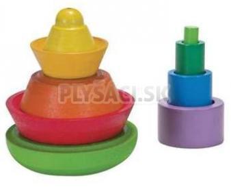 Plan Toys EKO - navliekacia pyramída