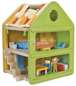 Plan Toys EKO - domček pre bábiky textil / eko / drevo
