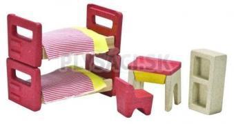Plan Toys EKO - nábytok detská izba do domčeka