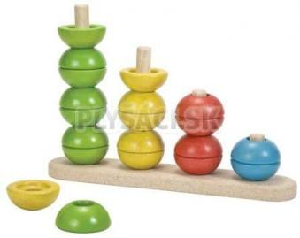 Plan Toys EKO - navliekacie stavacie veže nakláňacie