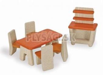 Plan Toys EKO - nábytok jedálenský kút do domčeka