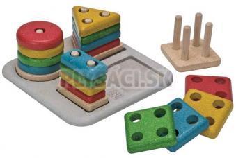 Plan Toys EKO - doštička na triedenie geometrických tvarov