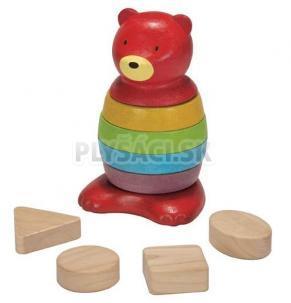Plan Toys EKO - navliekací medveď z krúžkov