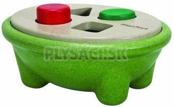 Plan Toys EKO - Prestrkávacia miska na rozlišovanie geom. tvarov