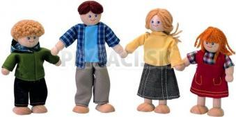 Plan Toys - Bábiky do domčeka Rodinka