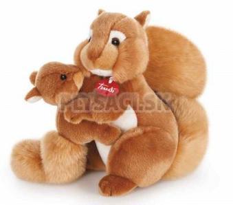 Trudi Classic - Veverička s mláďaťom, 33 cm