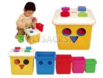 K's Kids - Skladací Prestrkávací kýblik s kockami