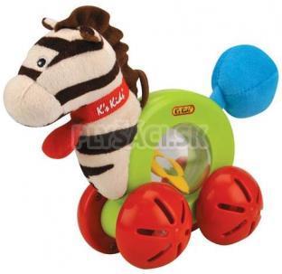 K's Kids - Zebra na kolieskach s hrkajúcim telom