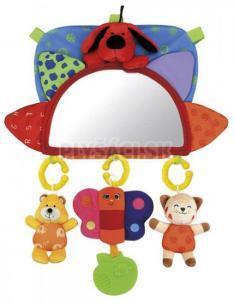 K's Kids - Baby návlek na opierku so zrkadielkom a závesnými hračkami