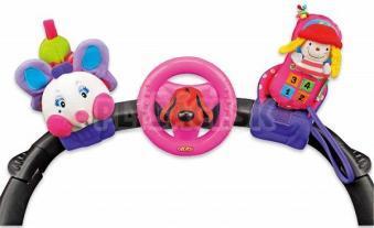 K's Kids - 3 Veselé hračky na prichytenie suchým zipsom pastelové farby