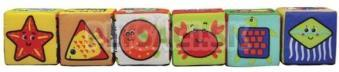 K's Kids - Zábavné textilné kocky (6 ks)