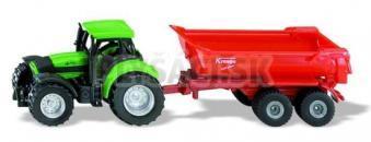 SIKU Blister - Traktor Deutz so sklopným prívesom