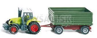 SIKU Blister - Traktor Fendt s dvojnápravovým prívesom
