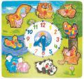 """Woody - Puzzle s hodinami """"Hodiny so zvieratkami"""""""