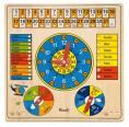 Woody - Viacúčelový kalendár s hodinami a barometrom