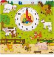 "Woody - Hodiny s puzzlami - Zvieratká na farme ""Mašinka"""